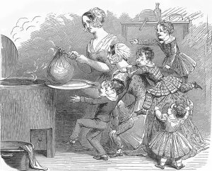 Cooking the Christmas pudding (1848)