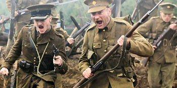 Daniel Radcliffe in My Boy Jack 2009 battle scene