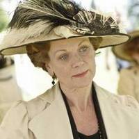 Image from Downton Abbey Season 1: Samantha Bond as Lady Painswick © Carnival Film & Television Limited 2010 for MASTERPIECE