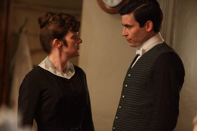 Image from Downton Abbey Season 1: Siobhan Finneran as O'Brien and Rob James-Collier as Thomas © Carnival Film & Television Limited 2010 for MASTERPIECE