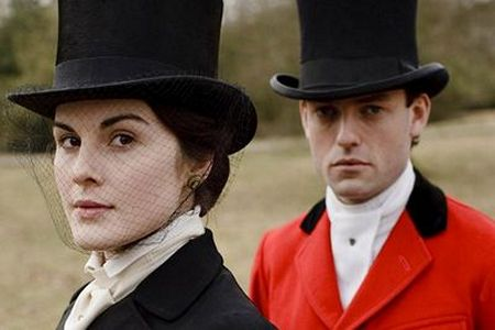 Image from Downton Abbey Season One: Lady Mary and Hon. Evelyn Napier © Carnival Film & Television Limited 2010 for MASTERPIECE