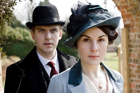 Image from Downton Abbey Season One Matthew Crawley and Lady Mary © Carnival Film & Television Limited 2010 for MASTERPIECE