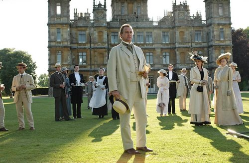 Image from Downton Abbey Season 1: Hugh Bonneville as Lord Grantham © Carnival Film & Television Limited 2010 for MASTERPIECE
