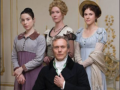 Image from Persuasion (2007): Sir Walter Elliot (Anthony Head) and his three daughters in Persuasion (2007)
