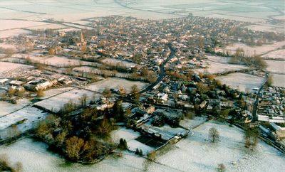 Aerial view of Brampton, Oxfordshire