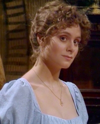 Elizabeth Garvie as Elizabeth Bennet in Pride and Prejudice 1980