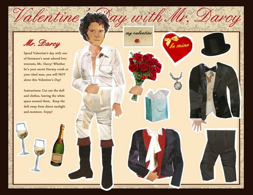 Mr. Darcy Valentine paper doll by MellyMo