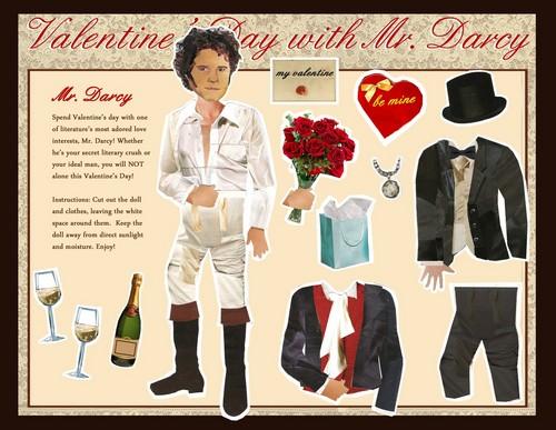 Mr. Darcy Valentine paper doll by MellyMo