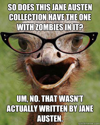 Judgmental Bookselling Ostrich Jane Austen edition
