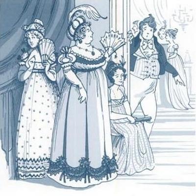 Illustration by Kathryn Rathke from The Jane Austen Handbook: Proper Life Skills from Regency England, by Margaret C. Sullivan (2011) pg 165