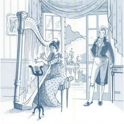 Illustration by Kathryn Rathke from The Jane Austen Handbook: Proper Life Skills from Regency England, by Margaret C. Sullivan (2011) pg 17