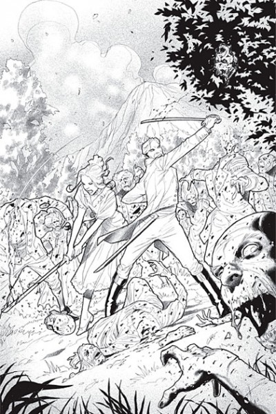 Illustrations by Cliff Richards for Pride and Prejudice and Zombies: The Graphic Novel (2010)