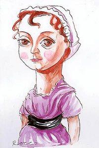 Portrait of Jane Austen, by Rocco Fazzari from The Herald (2008)