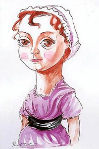 Portrait of Jane Austen, by Rocco Fazzari from The Herald (2008)