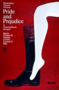 Pride and Prejudice (1980) Masterpiece Theatre PBS Poster