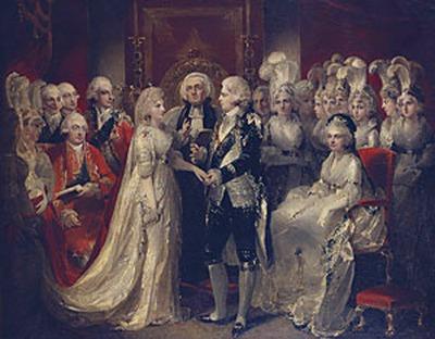 Wedding of Prince George and Princess Caroline 1795
