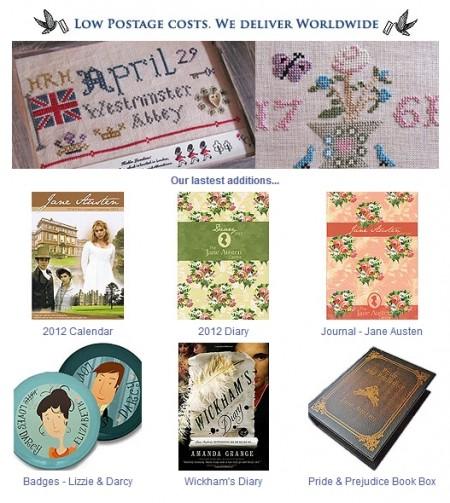 Jane Austen Centre online Giftshop