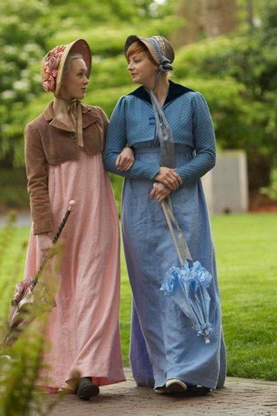 Marianne Dashwood (Jessica Martin) and Elinor Dashwood (Kjerstine Anderson) in Sense and Sensibility at Book-it Rep Seattle (2011)