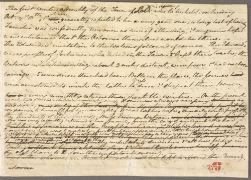 First page of The Watsons original manuscript, by Jane Austen (1803-1805)