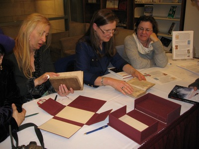 Austenalia panel viewing 1st American edition of Sense and Sensibility