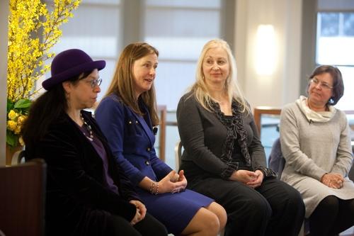 Austenalia panel: Diana Birchall, Syrie James, Laurie Viera Rigler and Karen Joy Fowler (2011)