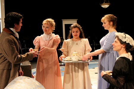 Cast of Book-It Reperatory Theatre's adaptation of Jane Austen's Sense and Sensibility 2011