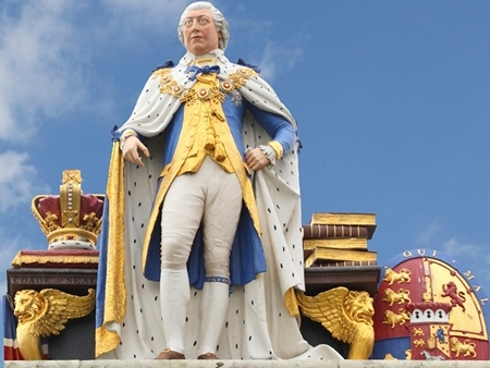 Statue of King George III in Weymouth, England