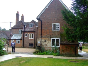 Author Janet Mullany visiting Chawton Cottage, the home of Jane Austen (2011)