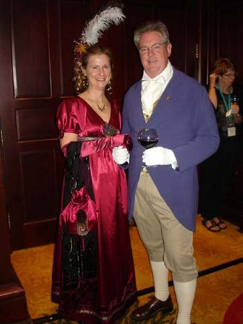 Syrie and Bill James at the Regency Ball JASNA Ft. Worth (2011)