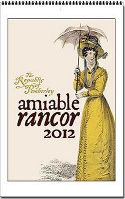 Jane Austen Amiable Rancor 2012 Wall Calendar