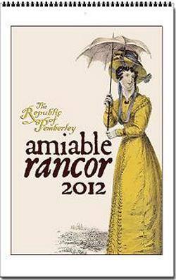 Jane Austen Amiable Rancor 2012 Wall Calendar