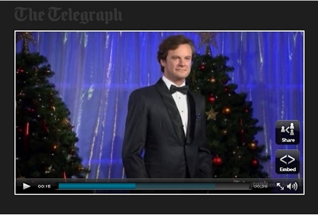 Colin Firth waxwork at Madame Tussauds (2011)