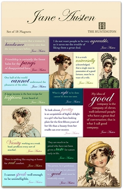Jane Austen quote magnets set by Museum Store Products, Inc