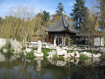 Pagoda at the Chinese Garden at the Huntington Library and Gardens
