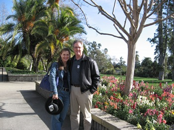 Syrie and Bill James at the Huntington Library & Gardens