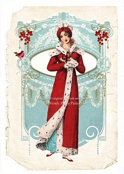 Winter at Pemberley note card by Paula Wendy