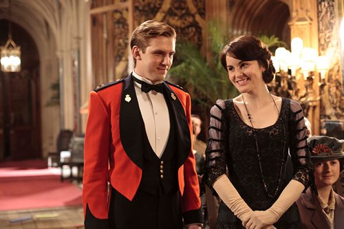 Image from Downton Abbey Seasin 2 Episode 1: Matthew Crawley and Lady Mary