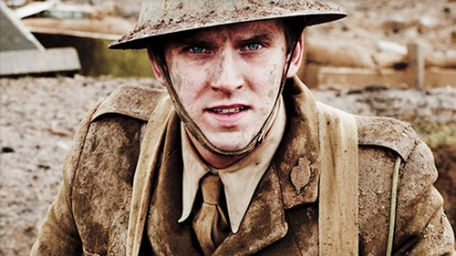 Image from Downton Abbey Season 2 Episode 4: Matthew Crawley at war