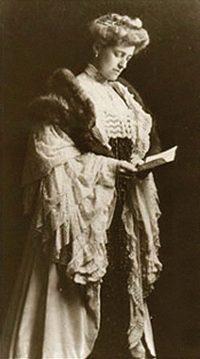Author and designer Edith Wharton