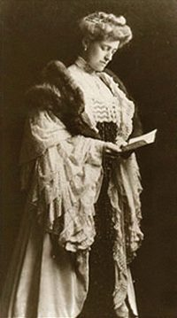 Author and designer Edith Wharton