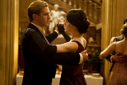 Image from Downton Abbey Season 2 Episode 6: Lady Mary and Matthew dancing