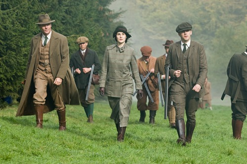 Downton Abbey Season 2 Episode 7: shooting scene