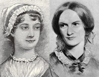 Jane Austen and Charlotte Bronte banner