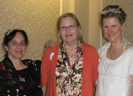"""Diana Birchall, Laurel Ann Nattress and Syrie James after the play """"You are Passionate, Jane"""" in Seattle (2012"""