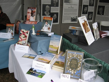 Austenesque Authors book display at the Northwest Bookfest (2012)