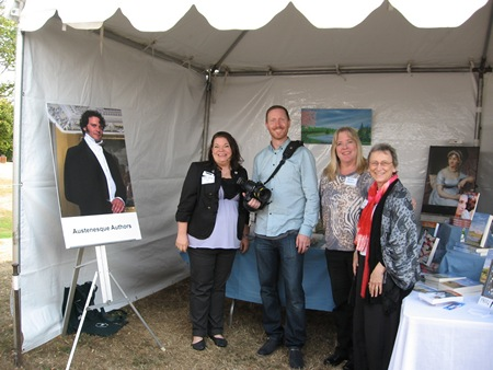 Photographer Chris Hornbecker at the Austenesque Authors booth Northwest Bookfest (2012)