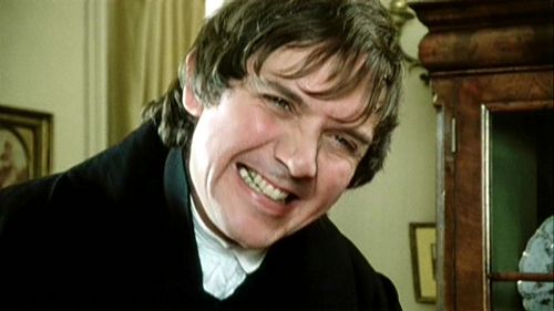 David Bramber as the odious Mr. Collins in Pride and Prejudice (1995)