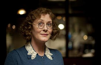 Image from Upstairs Downstairs Season 2: Sarah Lancashire as Mrs Whisset © 2011 MASTERPIECE