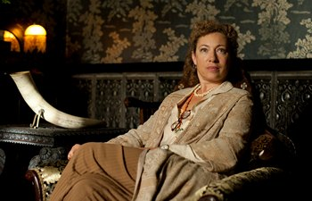 Image from Upstairs Downstairs Season 2: Alex Kingston as Dr. Blanche Mottershead © 2011 MASTERPIECE