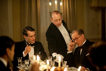 Image from Upstairs Downstairs Season 2: The Kennedy's come to dinner © 2011 MASTERPIECE